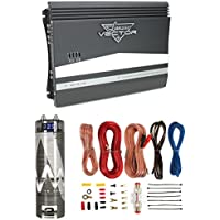 Lanzar VCT4110 2000W 4-Channel Car Amplifier + 2-Farad Capacitor + 8 Ga Amp Kit