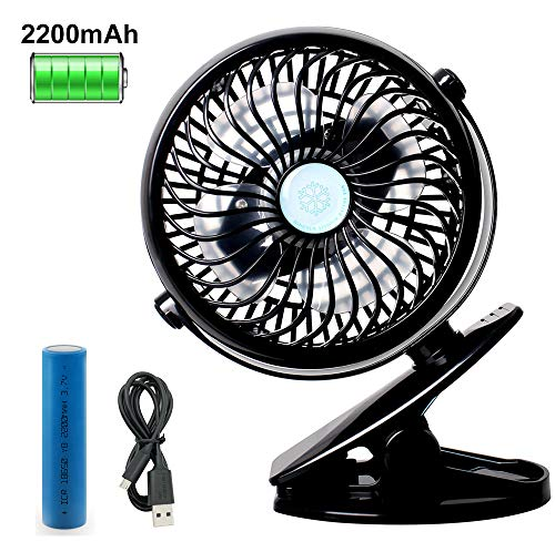 StillCool Battery Operated Clip on Fan, Mini Desk Fan Portable Handheld Powered by Rechargeable Battery or USB, Small Personal Fan for Baby Stroller Car Laptop Table Crib Treadmill Office Camping Outd