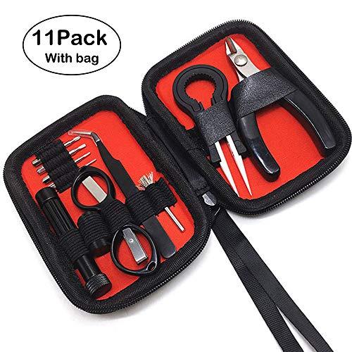 V2 DIY Werkzeug Set-11Stück Edelstahl Spule-Jig-wickelset,Keramik-Pinzette und Gebogenes Pinzetten, Multifunktions…
