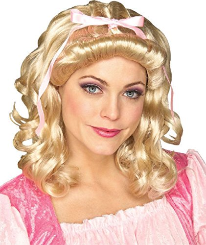 Storybook Victorian Colonial Wig Blonde Curly Adult Costume Accessory - Blonde Storybook Wig