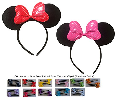 Mickey/Minnie Mouse Style Ears Headband for Boys, Girls, Chi