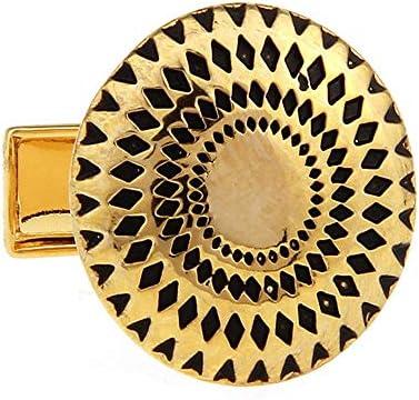 カフス メンズシャツカフスビジネスシャツメンズメタルカフスアクセサリービジネスメンズファッションカフスシャツアクセサリーメンズ高品質メタルカフスドロップゴールドラウンドカフス カジュアルからフォーマルまで幅広く活用できるカフスです (Color : Gold, Size : One size)