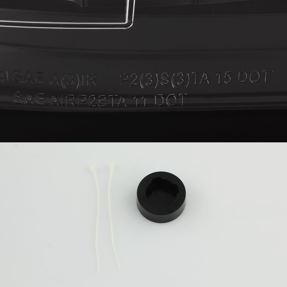 For 2007-14 Chevy Silverado LED Daytime Running Lamp Bar Tail Lights Black Housing Clear Lens Full Set