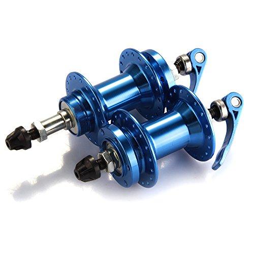 TOMOUNT Pair Bicycle Bike Mountain MTB Disc Brake Hub Set 36 Hole Metal Blue