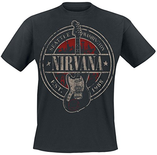 Nirvana-Seattle-1988-Camiseta-Negro