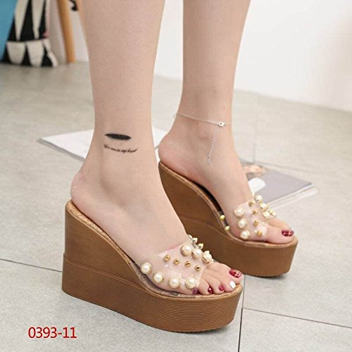 Remache tacon centímetros de de zapatillas perlas con cool decorado 11 ocio super XiaoGao 4qnRxa4