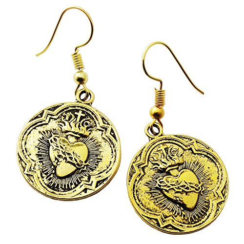 Sacred Heart Gold Dangle ()