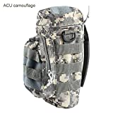 Enjoydeal Portable Tactical Zipper Water Bottle Pouch for Climbing Army Bag with Small Mess Pouches (ACU Camouflage)