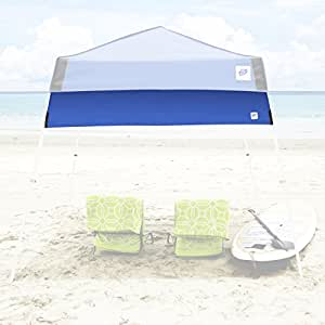 E-Z UP Recreational Half Wall-Angle Leg Canopies, 8-Feet (2.5m), Royal Blue with Grey Accents