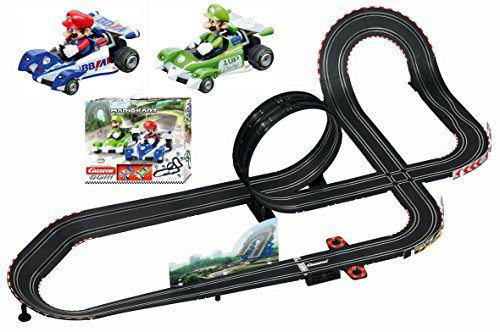 Carrera GO!!! 62431 Mario Kart Slot Car Race Set 1:43 Scale Analog Track (Includes 2 Vehicles: Mario and Luigi 2 Controllers) Ages 8+ from Carrera