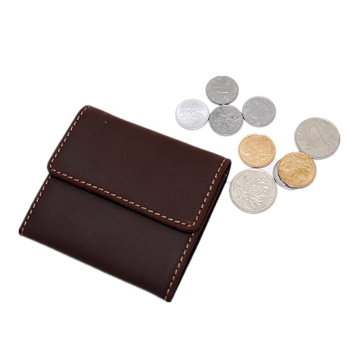 a995466a9ac4d8 Amazon.com: Boshiho Coin Purse for Men Small Changes Holder Cowhide ...