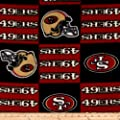 NFL Fleece San Francisco Squar Fabric By The Yard