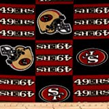 NFL Fleece San Francisco Squar Fabric By The Yard