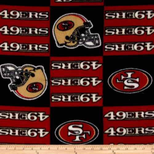 - NFL Fleece San Francisco Squar Fabric by The Yard
