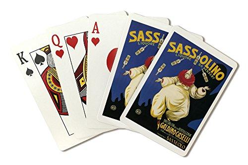 Sassolino Liquore da Dessert - Vintage Advertisement (Playing Card Deck - 52 Card Poker Size with Jokers)