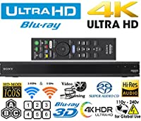 Sony UBP-X800 Region free Blu Ray Player 4K UHD - HDR - SACD - Wi-Fi - DVD 0-9 PAL/NTSC and Zone ABC Blu Ray 100-240V Auto by Sony