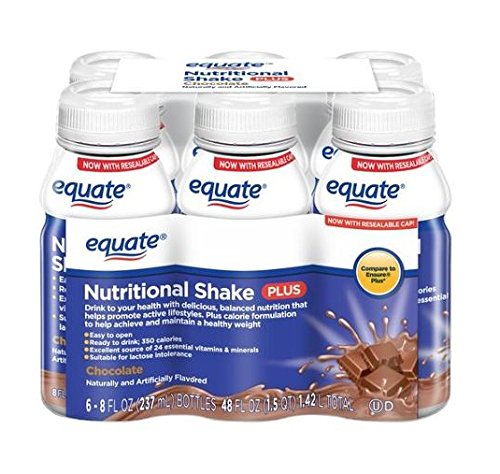 Equate Chocolate Nutritional Shake Plus (8 fl oz, 6 count)