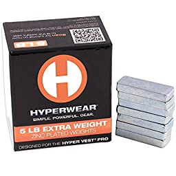 Hyperwear Booster Pack for Hyper Vest PRO Weighted Vests - Set of 35 Extra Weights (5lbs Total)