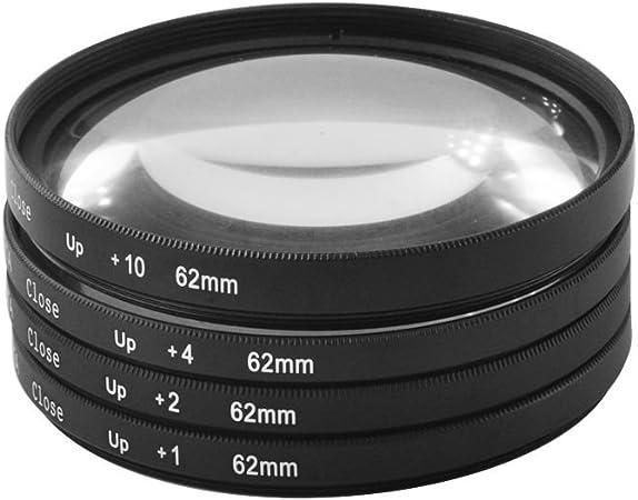 Generic 62 mm Macro Close-Up Close Up lente filtro + 1 + 2 + 4 + 10 + Kit de funda para Canon Nikon Sony cámara: Amazon.es: Electrónica