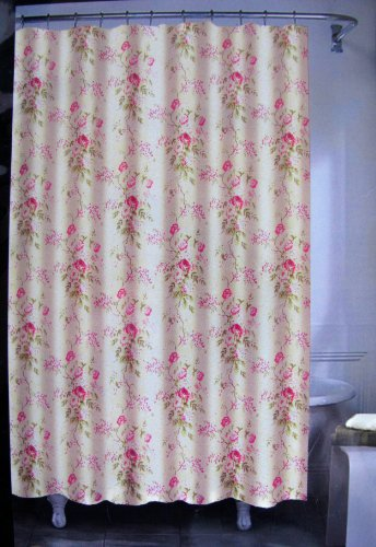 amazoncom lauren by ralph lauren floral shower curtain 72 x 72 100 cotton pink green taupe white home u0026 kitchen