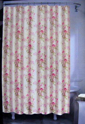 Amazon.com: Lauren By Ralph Lauren Floral Shower Curtain 72 X 72 100%  Cotton Pink Green Taupe White: Home U0026 Kitchen