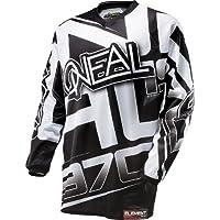O 'Neal Element Jersey Racewear Blanco y Negro Moto Cross Downhill Moto Camiseta DH MX, 0016r de 10