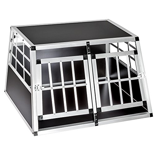 Box Aluminium Double Tailles Au 400549 Choix Pour Diverses No 400549 Caisse De Mobile Tectake double petit Transport Chien Cage petit 8vqTTw5