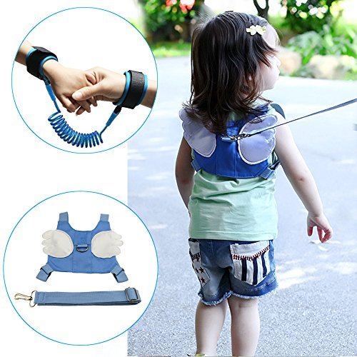 Rasie Baby Toddler Harness Walking Safety Child Strap,Anti-lost Harness & Anti Lost Wrist Link for Boys or Girls - 2 Pack - 2 Pack Team Wristband