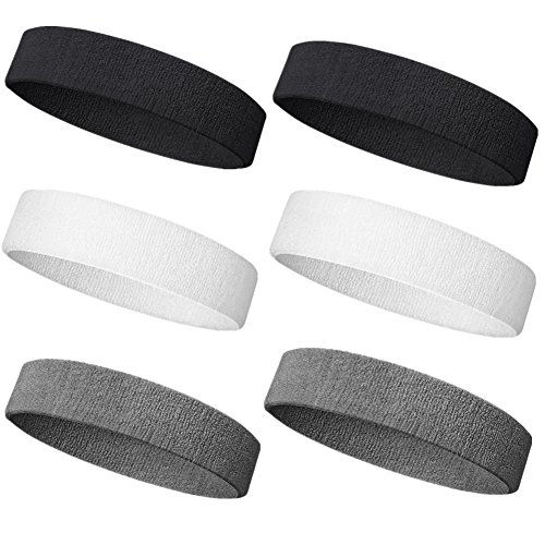 - NEXTOUR Sweatband Headband/Wristband Perfect for Basketball, Running, Football, Tennis Terry Cloth Athletic Sweatbands Fits for Men and Women
