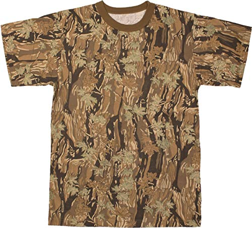 Army Universe Smokey Branch Camouflage Short Sleeve T-Shirt Pin - Size Large ()
