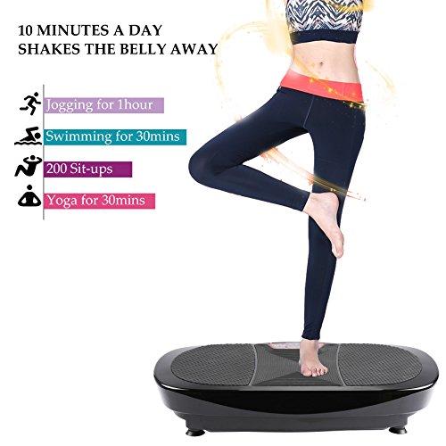 3D Fitness Whole Body Vibration Platform Machine - 400W Dual Motors Vibration Plate Crazy Fit Massage Exercise Machine with Remote Control & Resistance Bands    by Z ZELUS (Image #7)