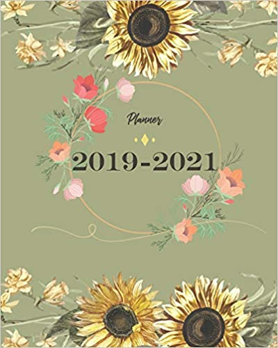 Amazon.com: 2019-2021 Planner: Sun Flower Cover for Monthly ...