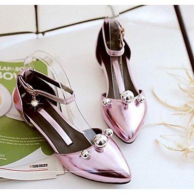 Frauen 039 s Sandalen Komfort PU Sommer Casual Comfort Rot Pink Silber Gold unter 1 inBlushing PinkUS 5 EU 35 UK 3 CN34