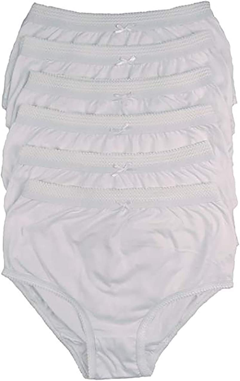 Sizes 10-24 100/% Cotton Full Comfort Fit Underwear Bonjour 6 Pack Ladies Briefs Maxi