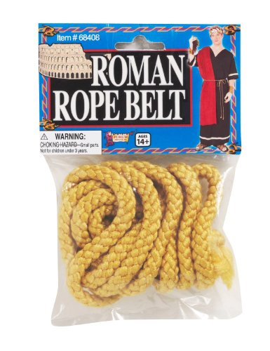 Forum Novelties 68408 Roman Rope Belt Party Supplies, One Size