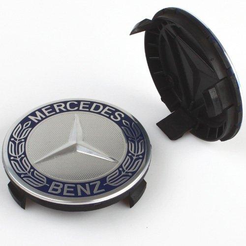 4 embellecedores para tapacubos para Mercedes Benz, para llantas de aleación, 75 mm, Clase A B C E CLA CLK: Amazon.es: Coche y moto