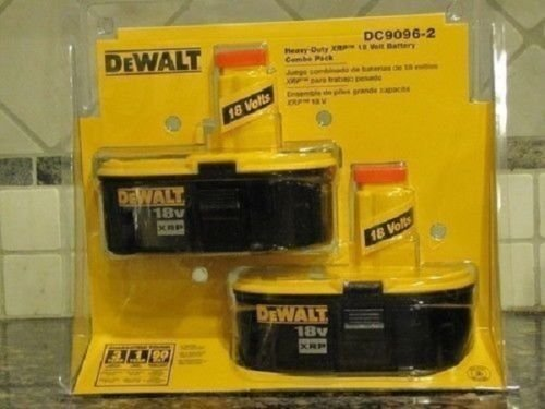 New Dewalt Dc9096-2 Pack of (2) Cordless Tool 18 Volt Xrp Battery Pack Sale