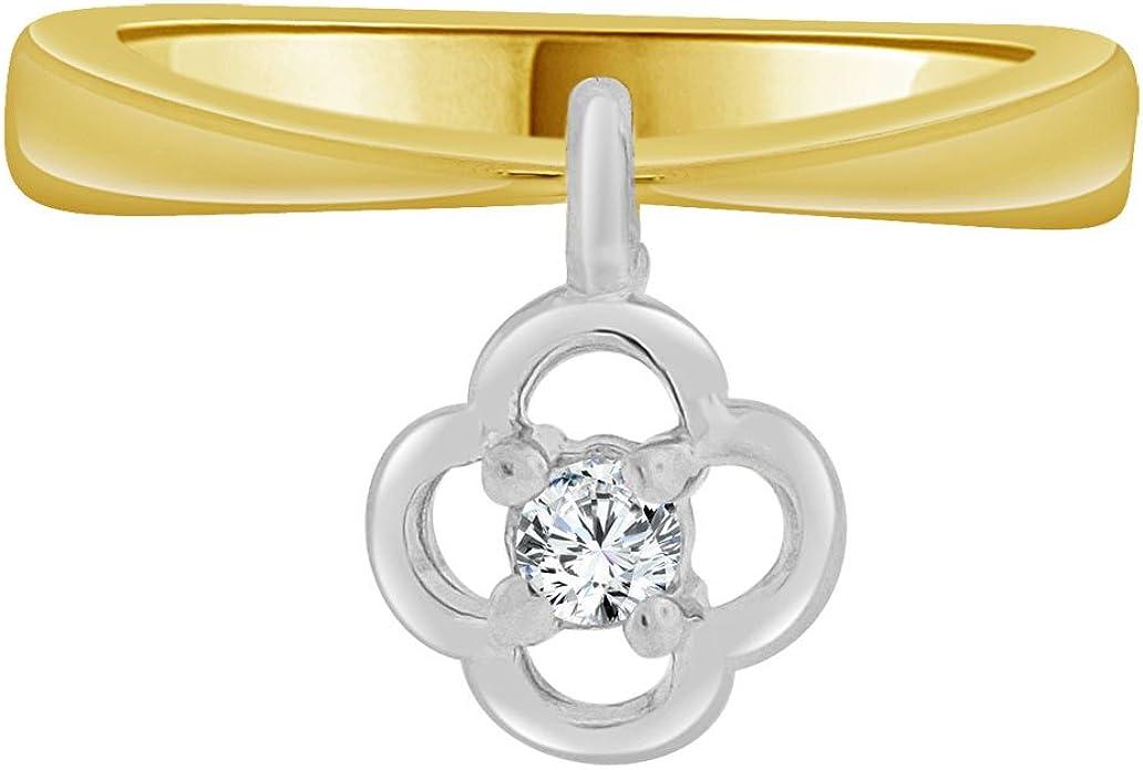 14k Yellow /& Rose Gold Small Baby Child Kid Ring Filigree Flower Design