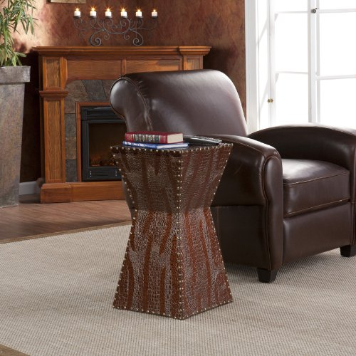 Southern Enterprises Morley Faux Leather Accent Table
