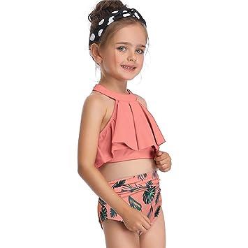 Triángulo de los niños Flash Fold Impreso Bikini con ...