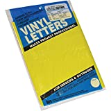 "Graphic Products Permanent Adhesive Vinyl Letters and Numbers (167/pkg), 2"", Yellow"