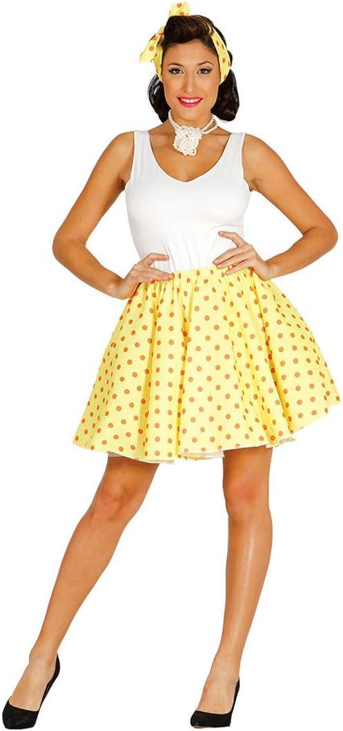 Elegante Set de Disfraz Pin Up Chica para Dama / Amarillo-Naranja ...
