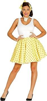 Lindo set de disfraz años 50 Rockabilly - Amarillo-naranja L (ES ...