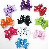 20 Pcs Multicolor Sunlight Ribbon Puppy Dog Cat Hair Bow Ties, Girls Pet Headdress Gift Hair Accessory Set