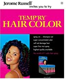 theatrical hair dye - [ VALUE PACK OF 3] JEROME RUSSELL TEMPORARY HAIR COLOR SPRAY SHAMPOO OUT 2.2 OUNCE EA #BLACK