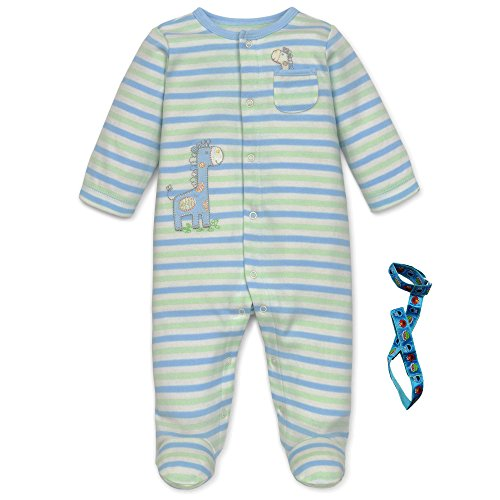 little-me-2-piece-baby-boys-stripe-footed-sleeper-giraffe-and-pacifier-holder-6-mth