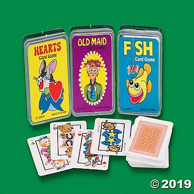 Hearts / Old Maid / Fish - Mini Playing Cards (set of 12): Toys & Games