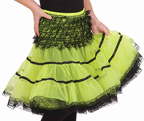 [Forum Novelties Child's Crinoline Skirt, Neon Green] (80s Pop Party Girls Costume)