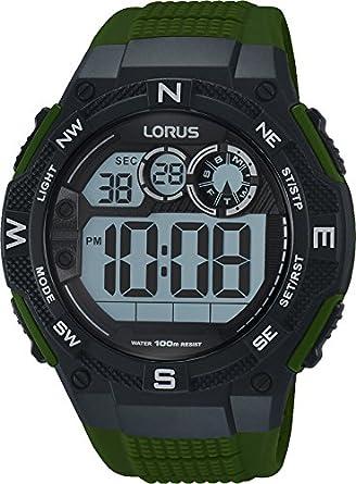 Lorus Reloj Digital para Hombre de Cuarzo con Correa en Silicona R2321LX9