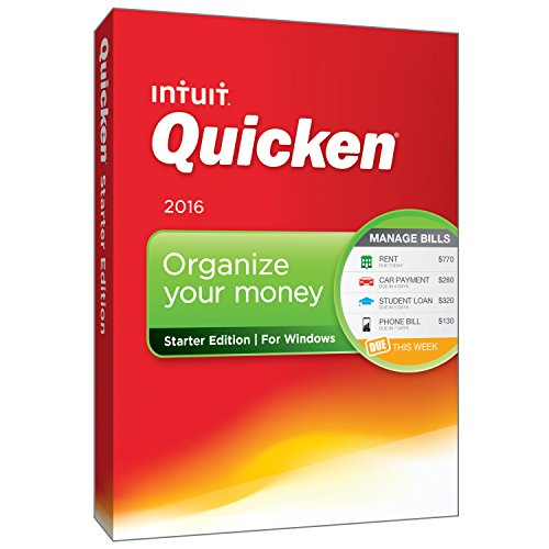 Quicken Starter Edition 2016 Personal Finance & Budgeting Software [Old Version]